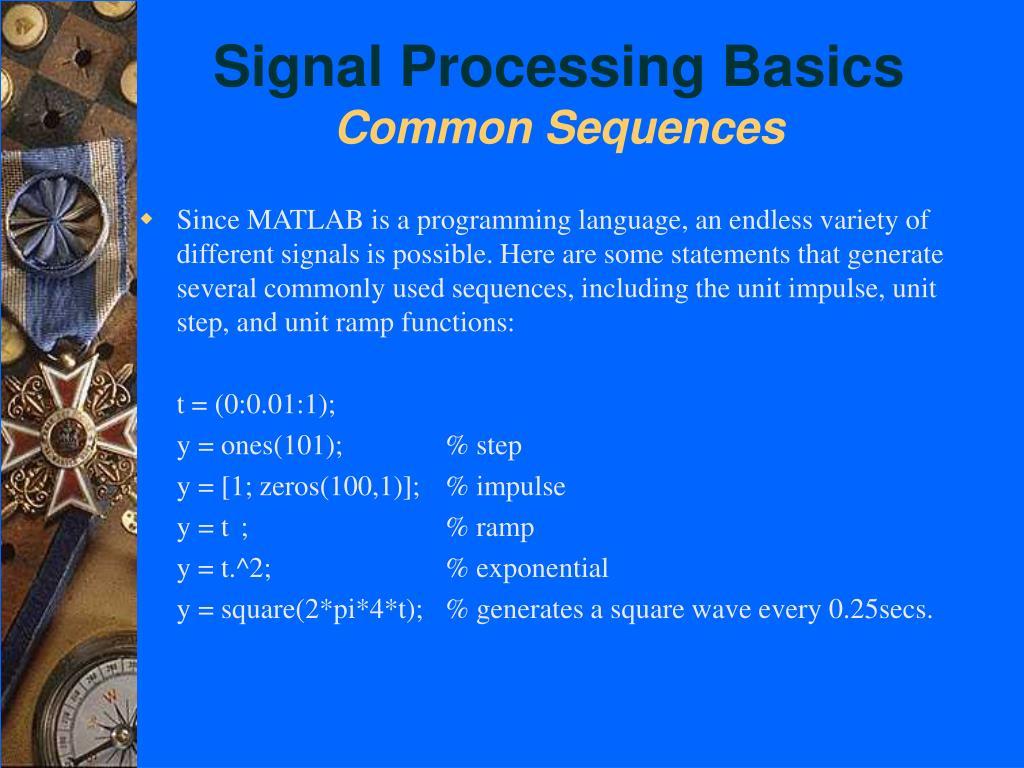 Signal Processing Basics