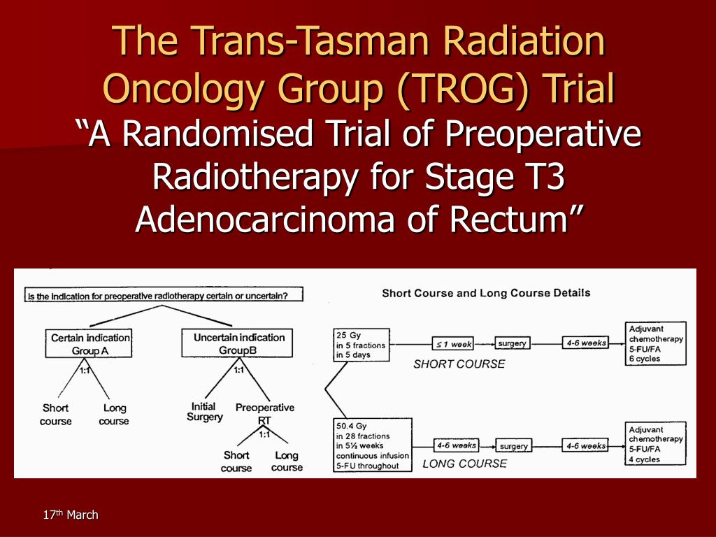 The Trans-Tasman Radiation Oncology Group (TROG) Trial