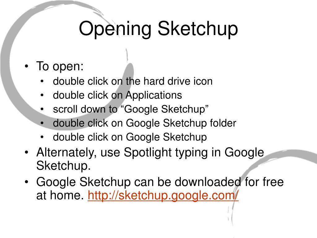 Opening Sketchup