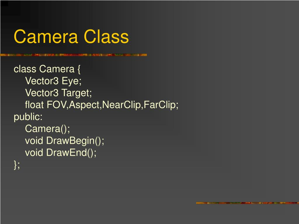Camera Class