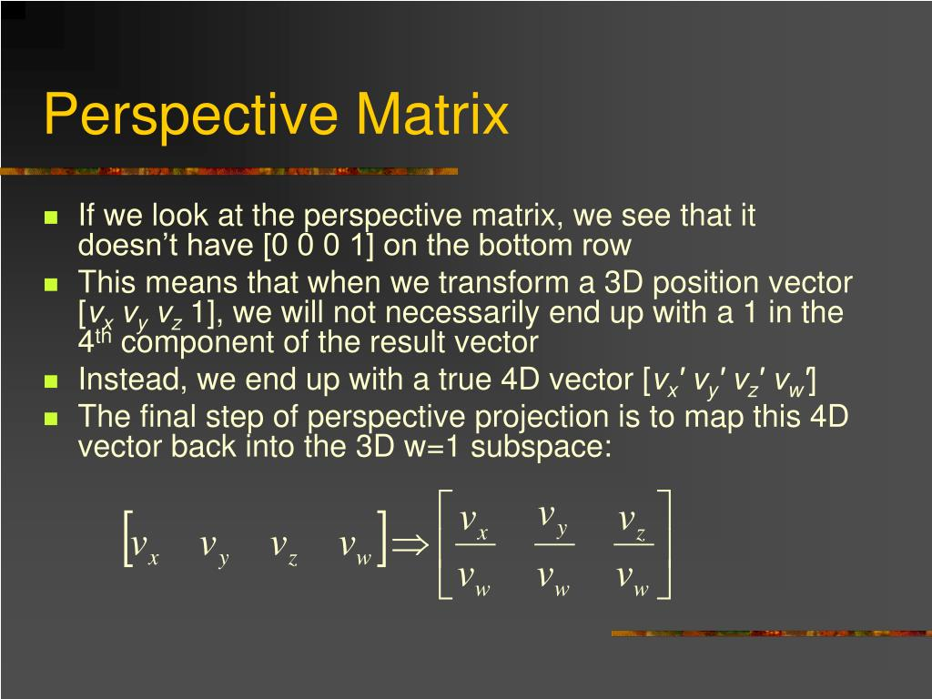 Perspective Matrix