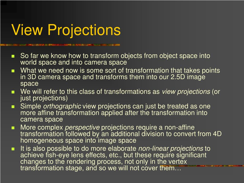 View Projections