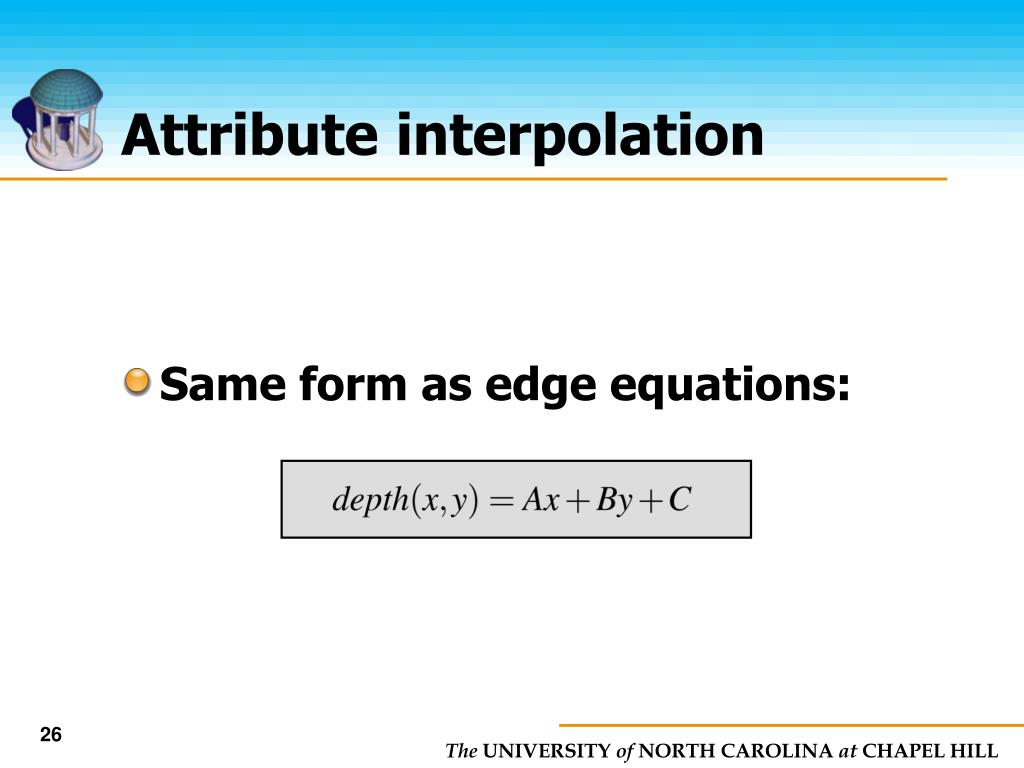 Attribute interpolation