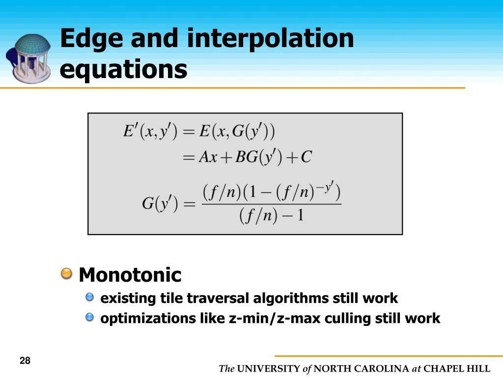 Edge and interpolation equations