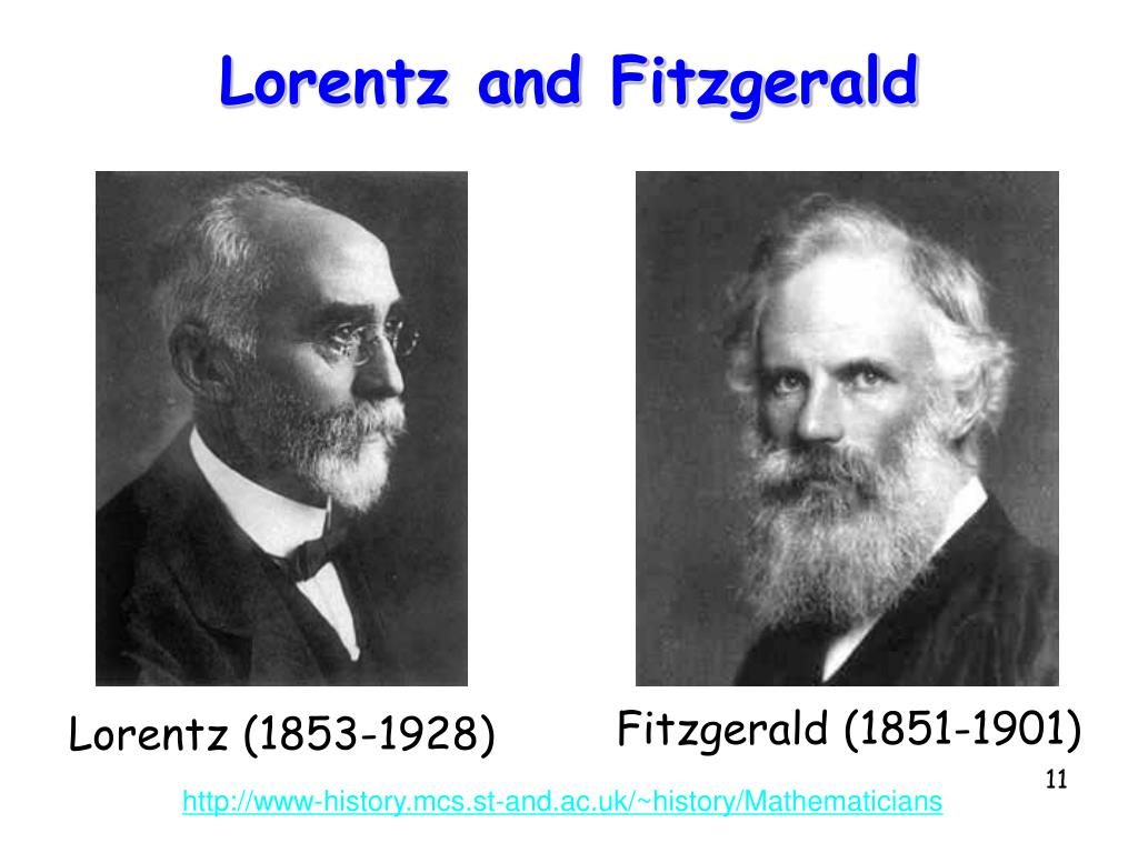 Lorentz and Fitzgerald