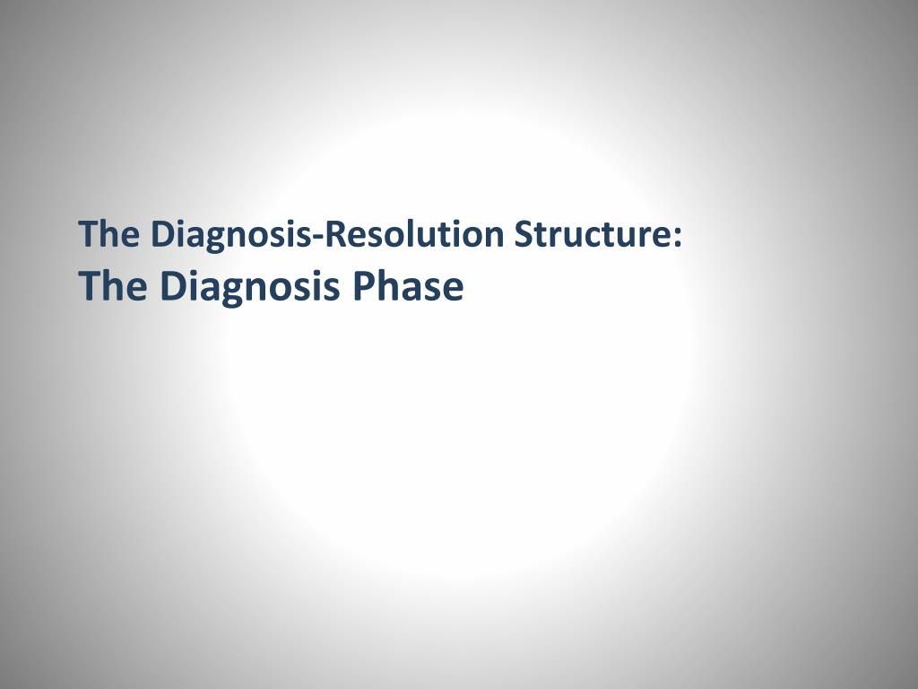 The Diagnosis-Resolution Structure: