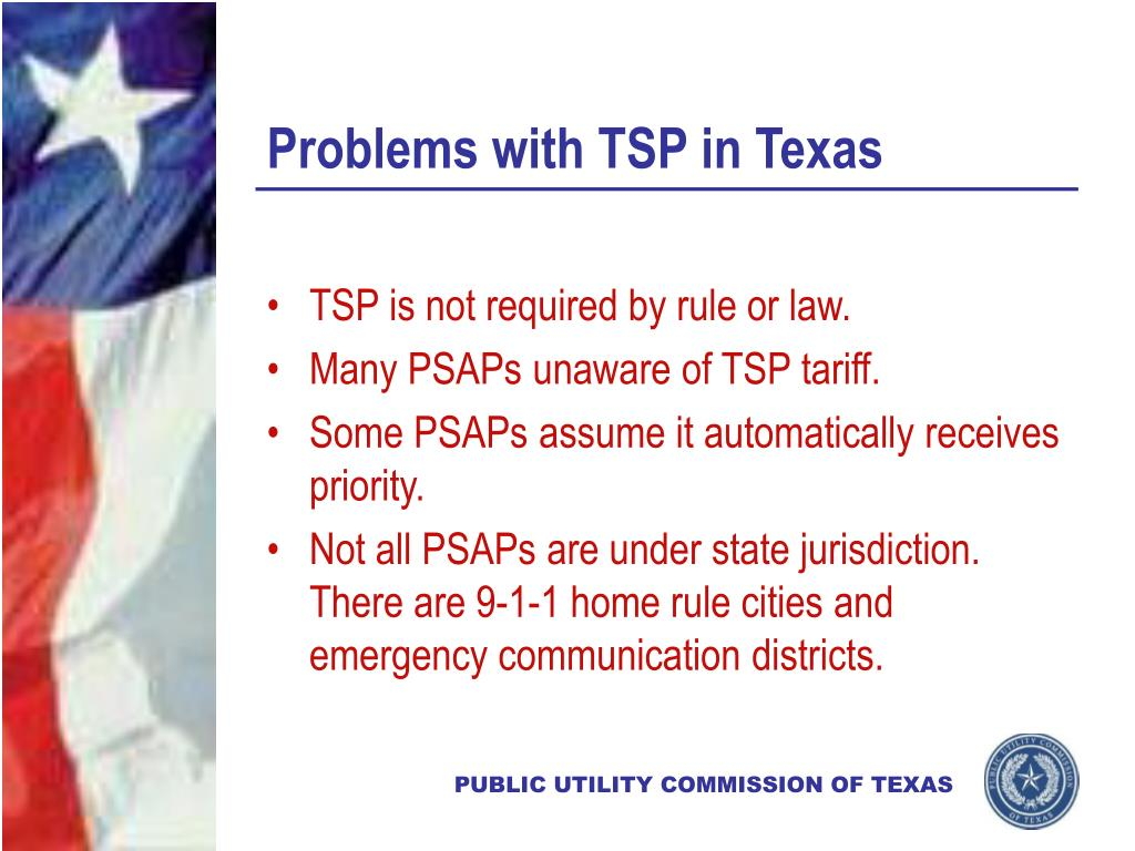 Problems with TSP in Texas