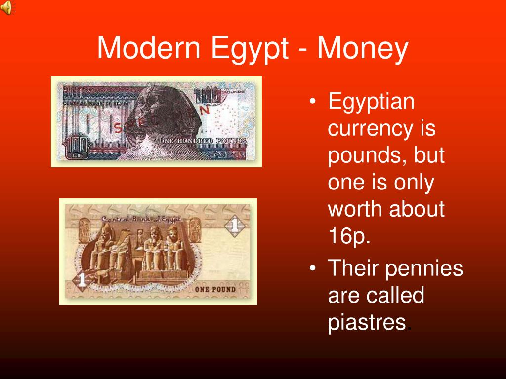 Modern Egypt - Money