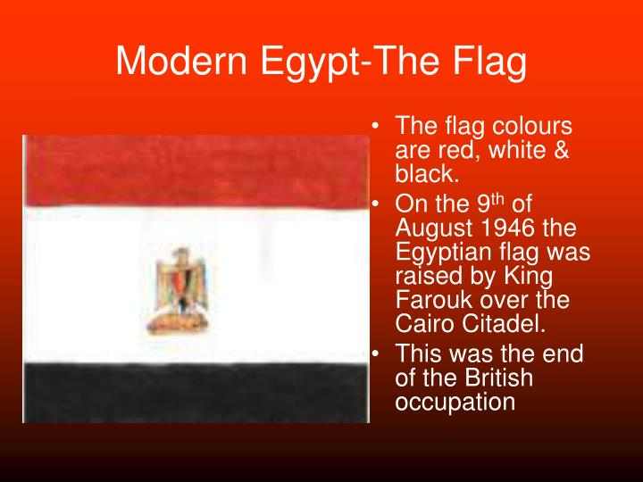 Modern egypt the flag