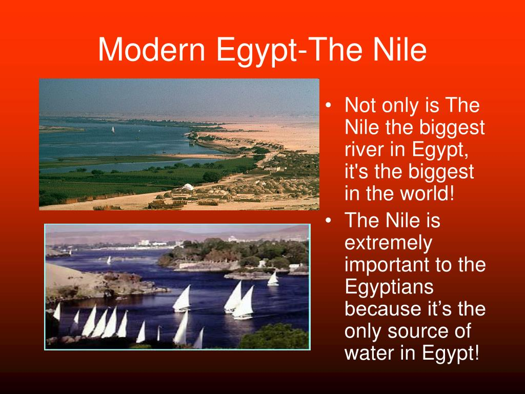 Modern Egypt-The Nile