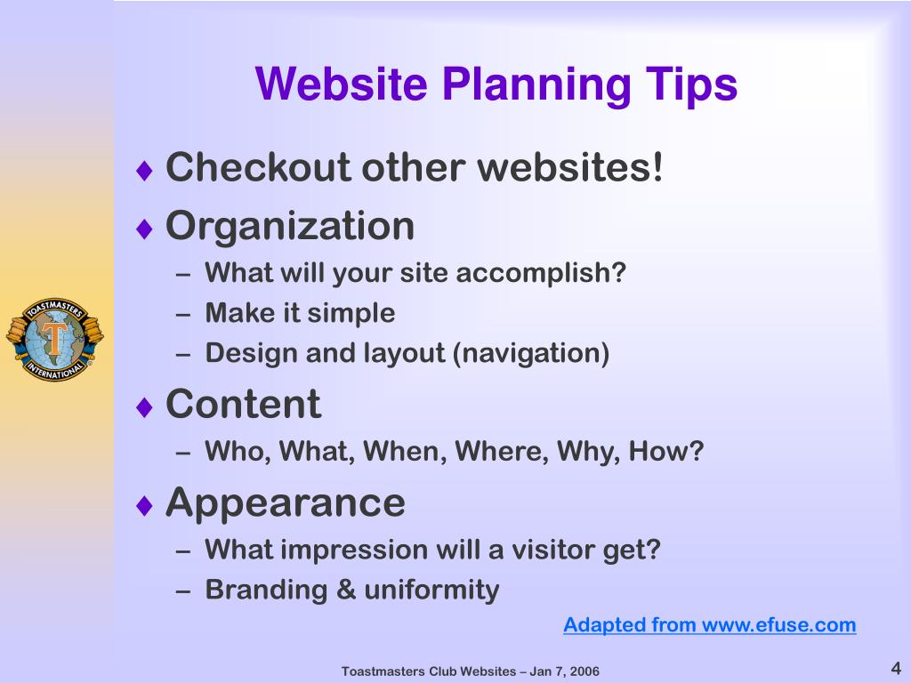 Website Planning Tips