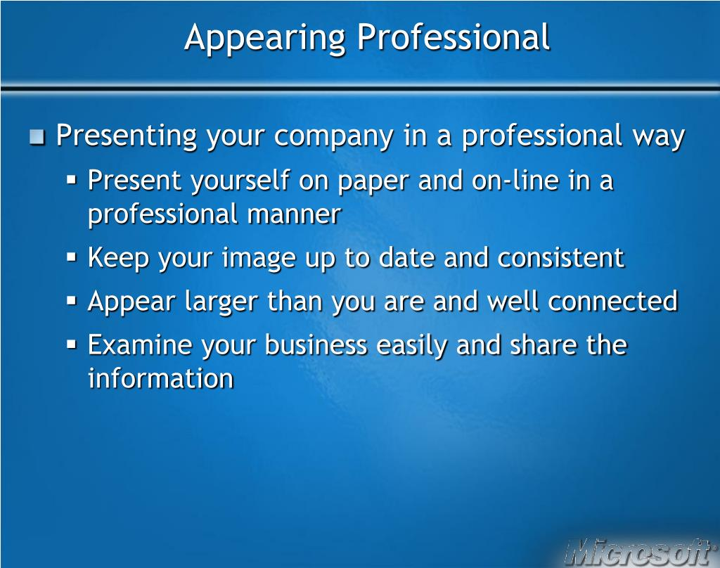 Appearing Professional