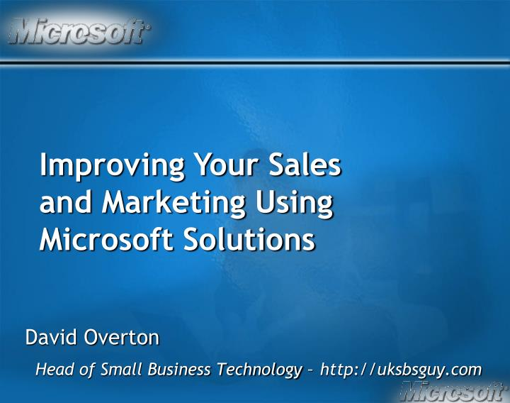 David overton head of small business technology http uksbsguy com