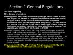 section 1 general regulations10