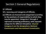 section 1 general regulations12