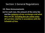 section 1 general regulations13