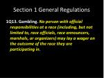 section 1 general regulations18