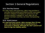 section 1 general regulations9