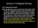 section 7 collegiate racing