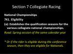 section 7 collegiate racing24