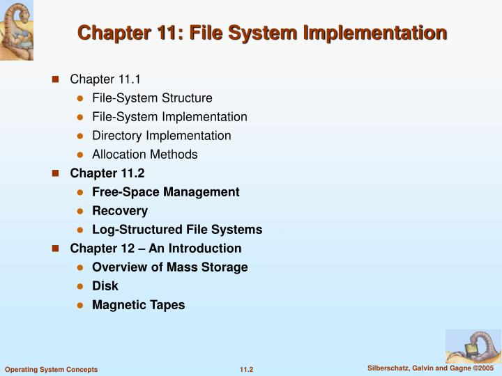 Chapter 11 file system implementation