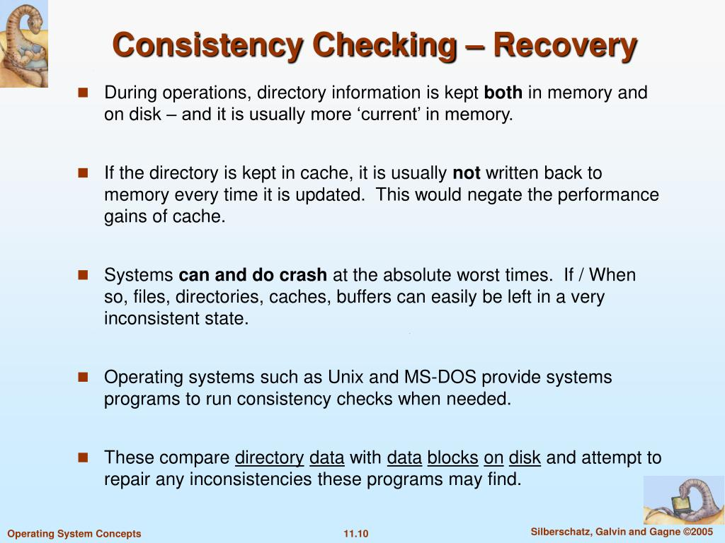 Consistency Checking – Recovery