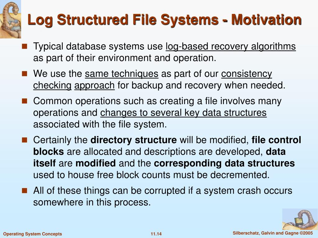 Log Structured File Systems - Motivation