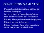 conclusion subjective
