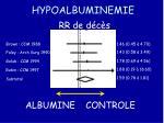 hypoalbuminemie