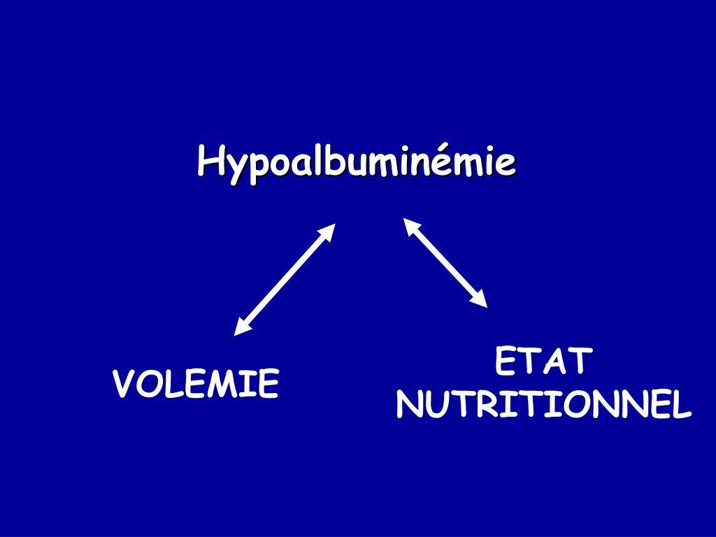 Hypoalbuminémie