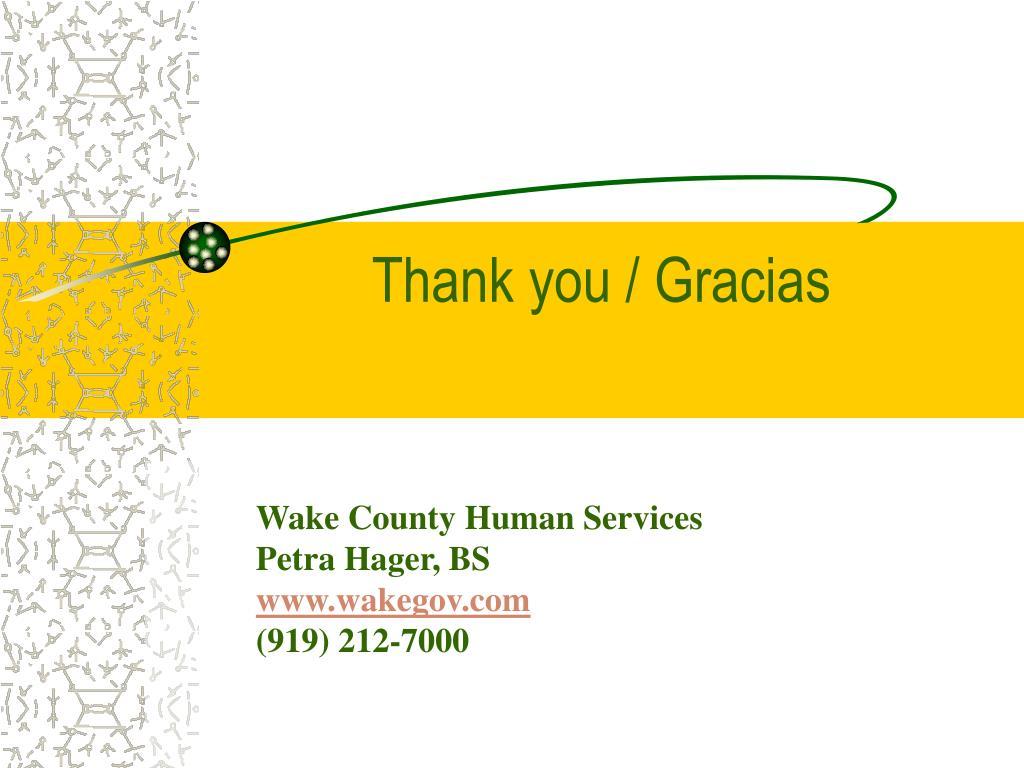 Thank you / Gracias