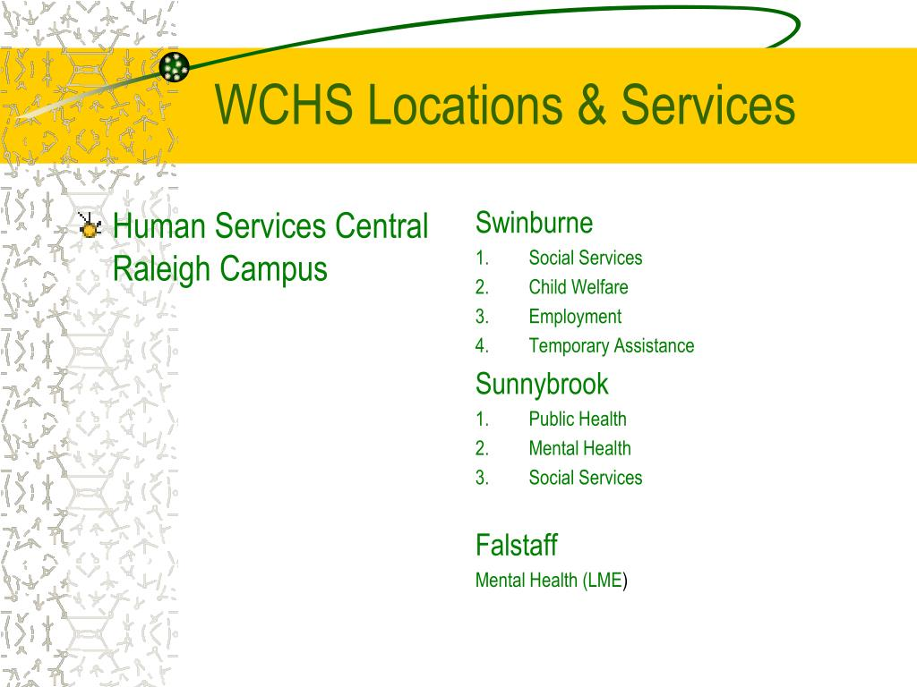 Human Services Central Raleigh Campus