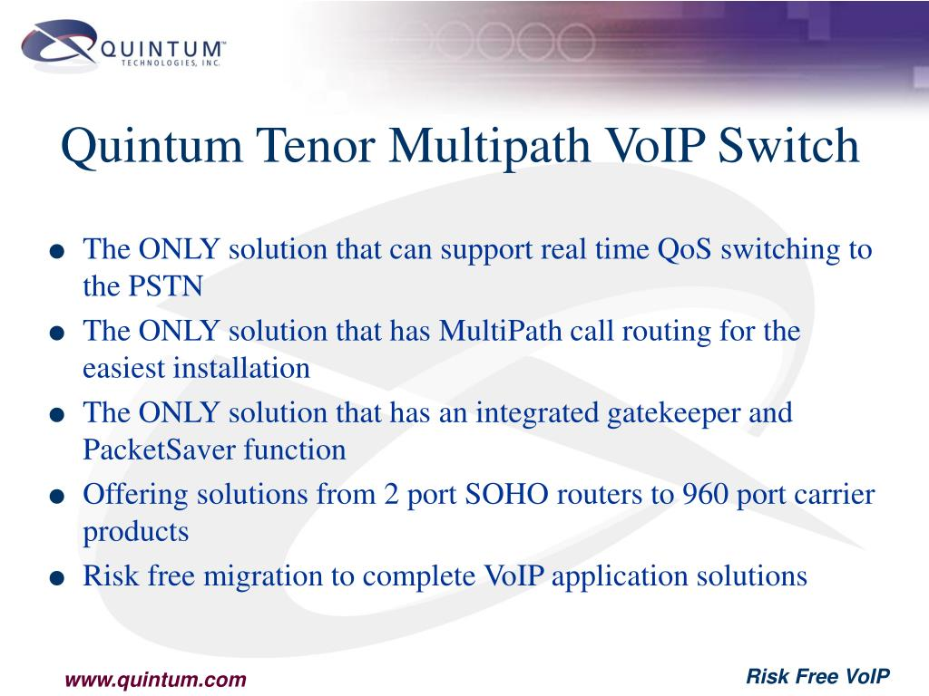 Quintum Tenor Multipath VoIP Switch