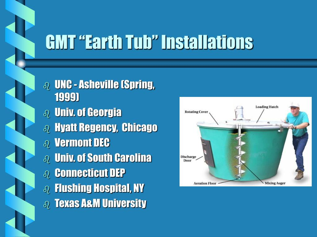 "GMT ""Earth Tub"" Installations"