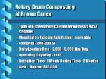 rotary drum composting at brown creek