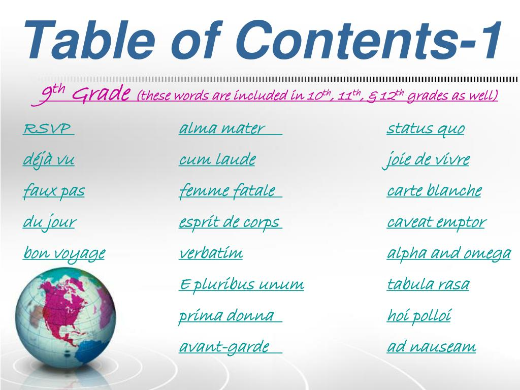Table of Contents-1