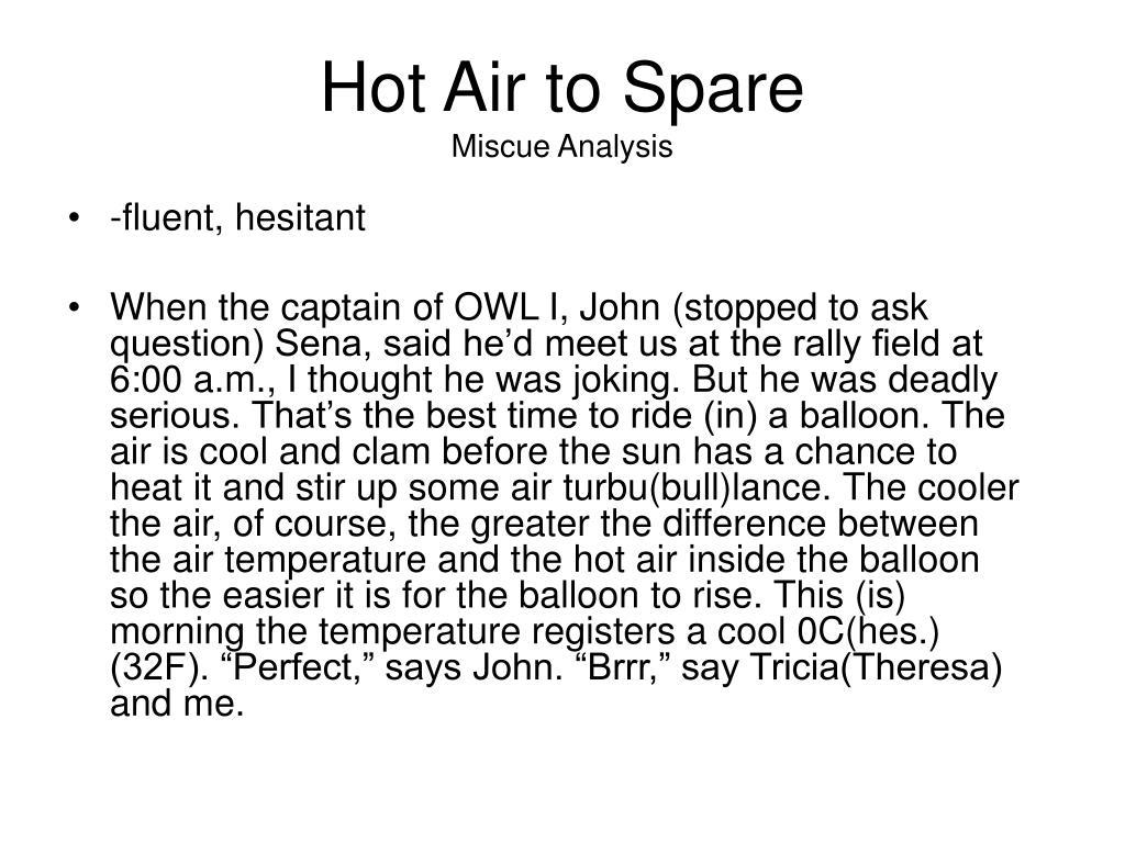 Hot Air to Spare
