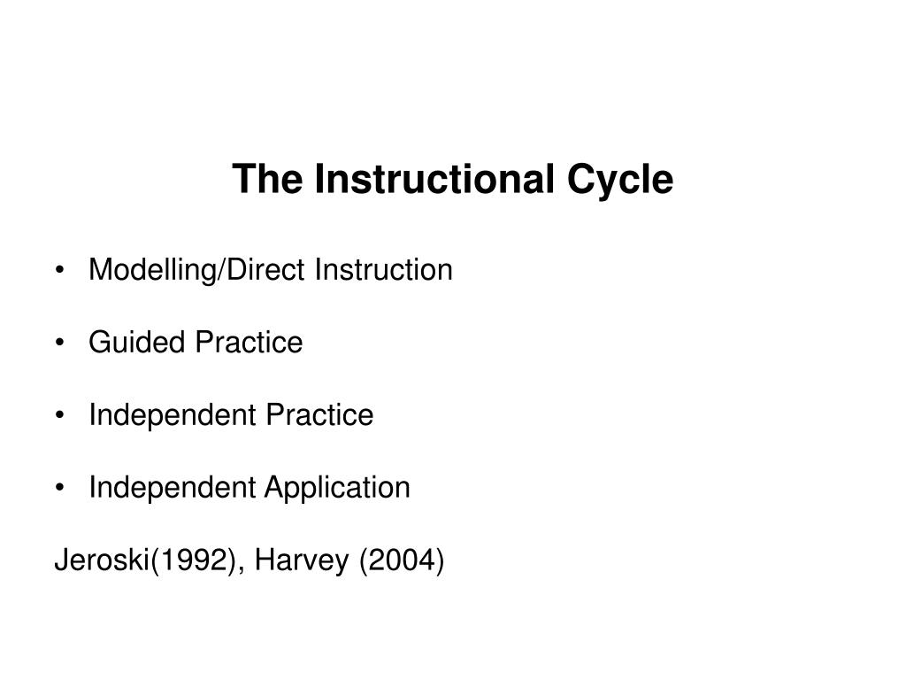 The Instructional Cycle