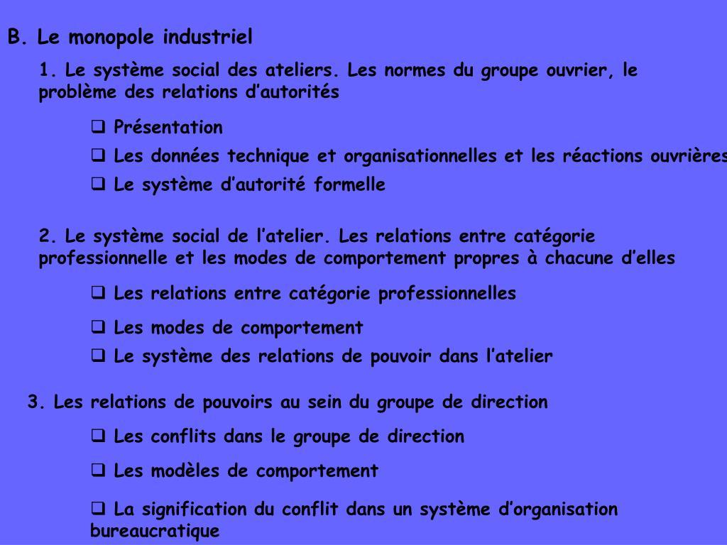 B. Le monopole industriel