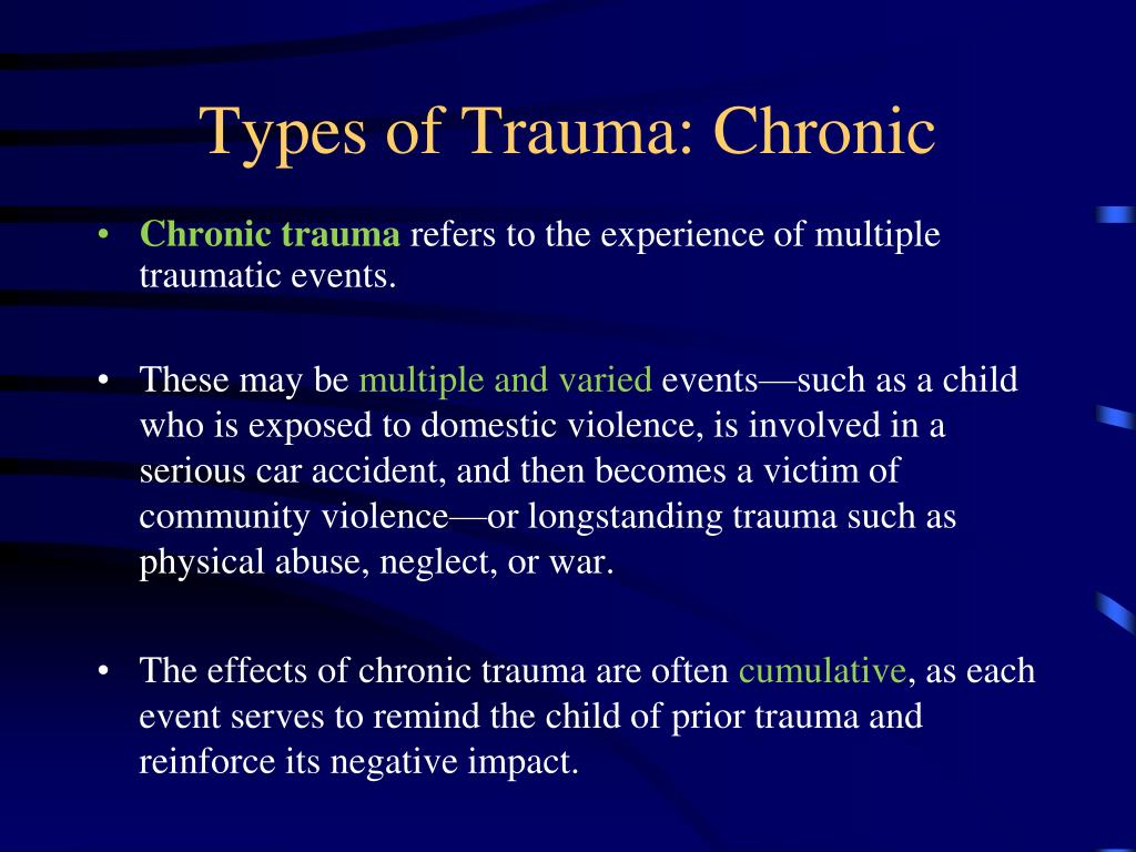 a bibliography on the effects of traumatic experiences in childhood Post-traumatic stress disorder: implications for prisoner-of-war experiences or childhood physical as well as the behavioral effects of trauma that might.
