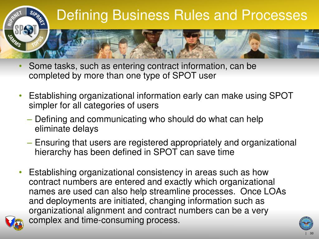 Defining Business Rules and Processes