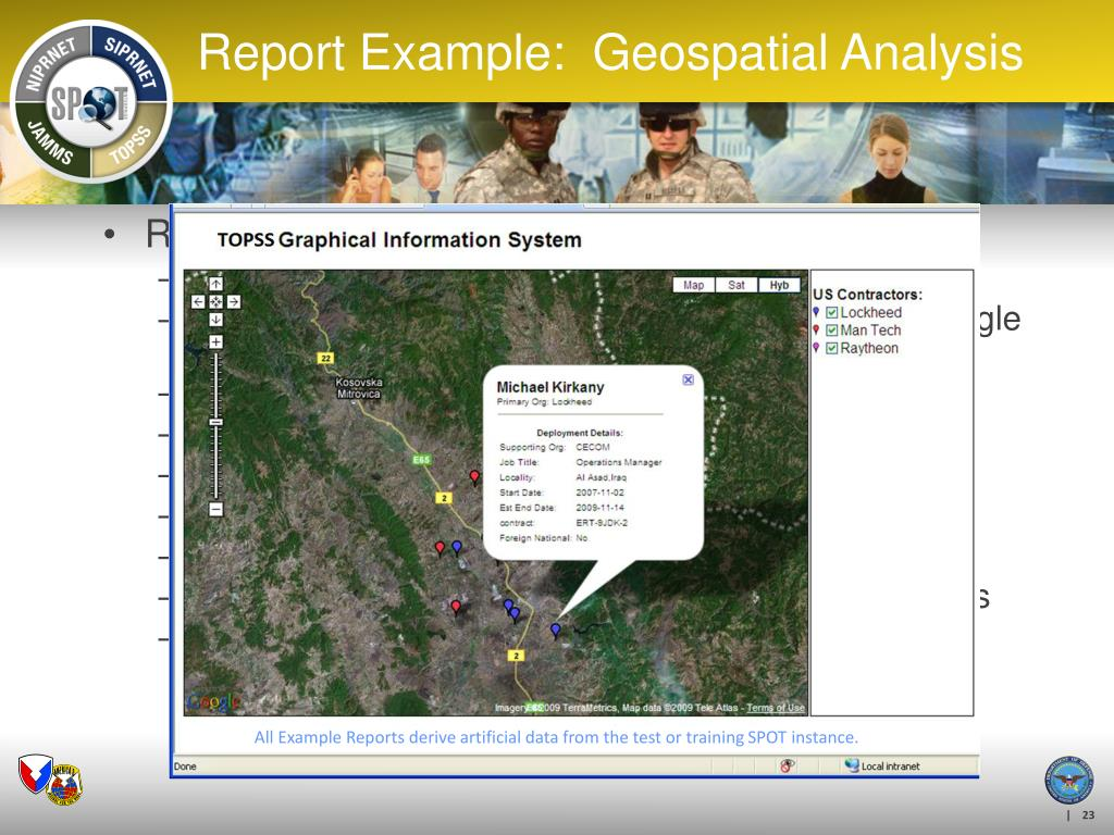 Report on Location-Based Data