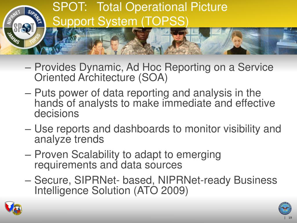 Provides Dynamic, Ad Hoc Reporting on a Service Oriented Architecture (SOA)
