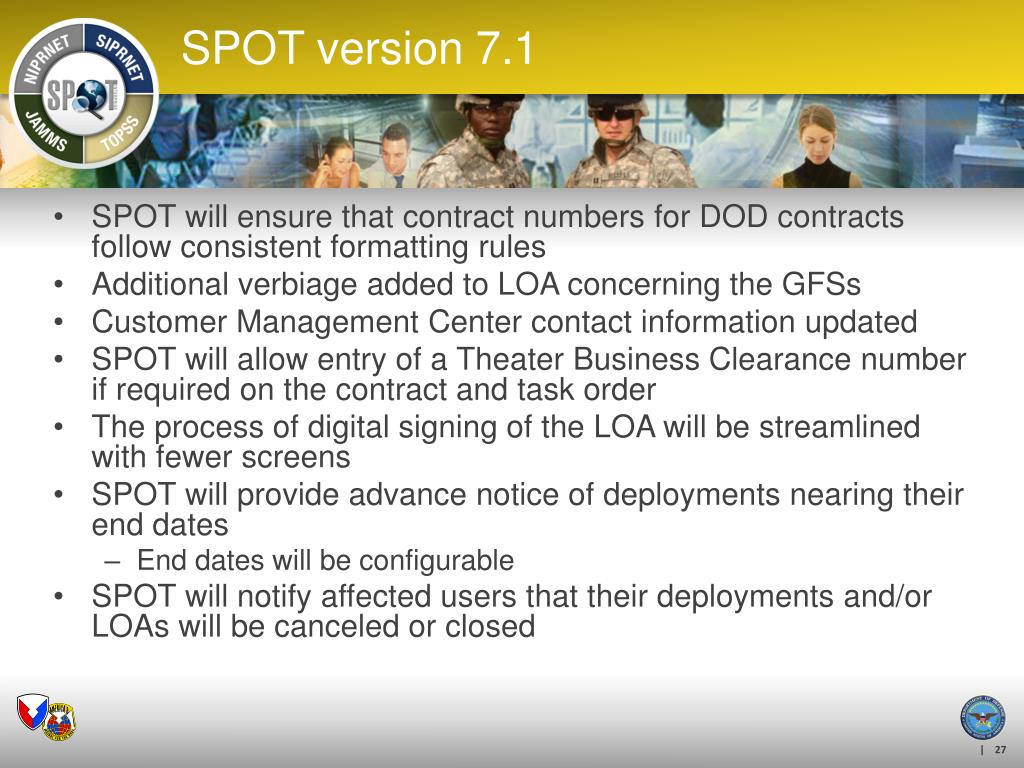 SPOT will ensure that contract numbers for DOD contracts follow consistent formatting rules