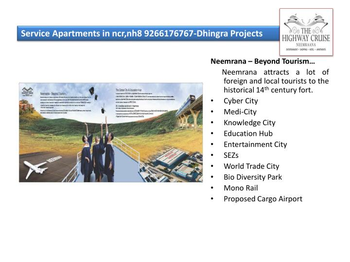 Service apartments in ncr nh8 9266176767 dhingra projects3