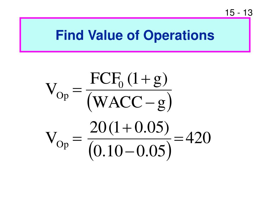how to find fcf from operations