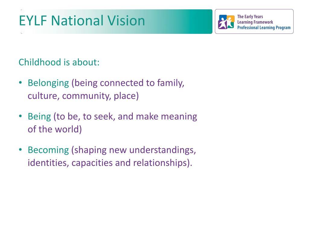 EYLF National Vision