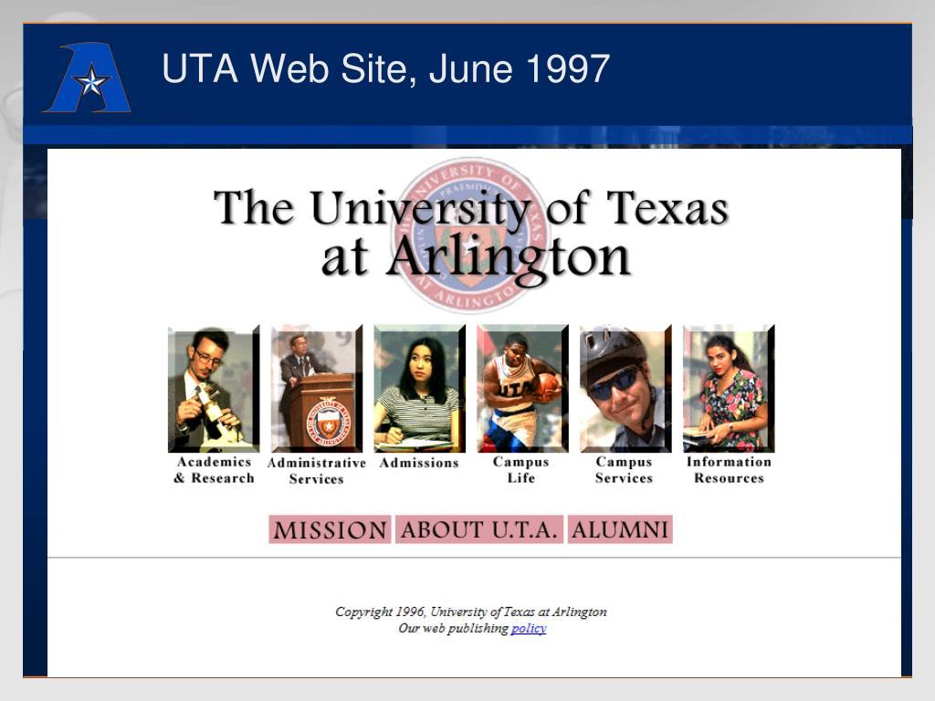 UTA Web Site, June 1997
