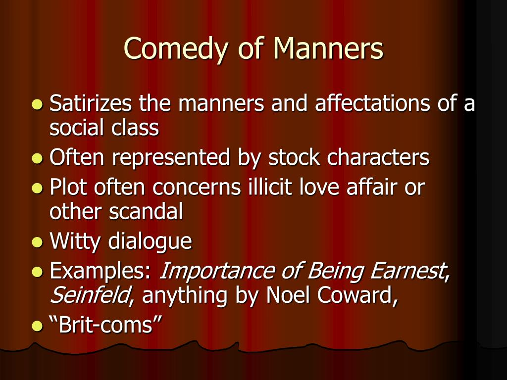 Comedy of Manners