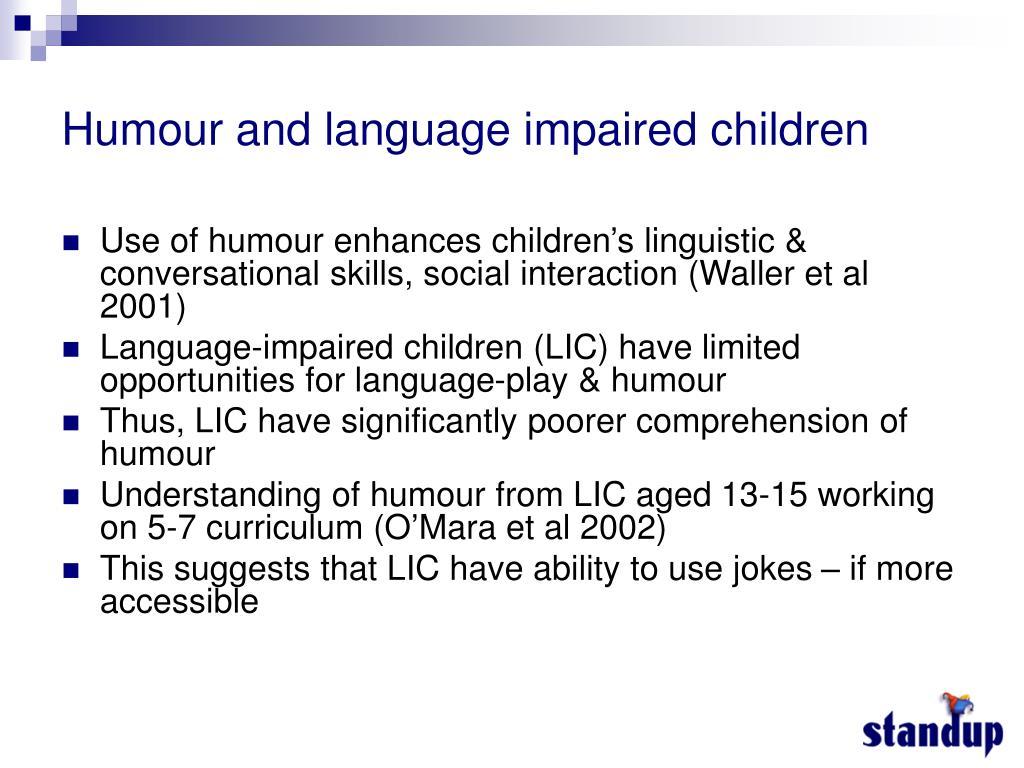 Humour and language impaired children